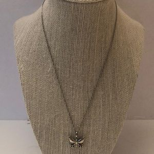 Fossil necklace w/ butterfly pendant